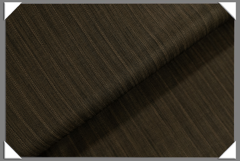 Brown Vegan Shadow Stripe Fabric