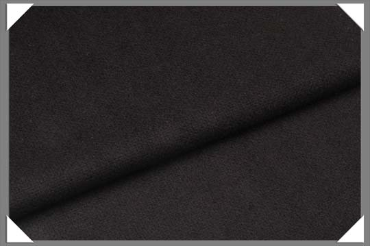 Black Flannel Fabric