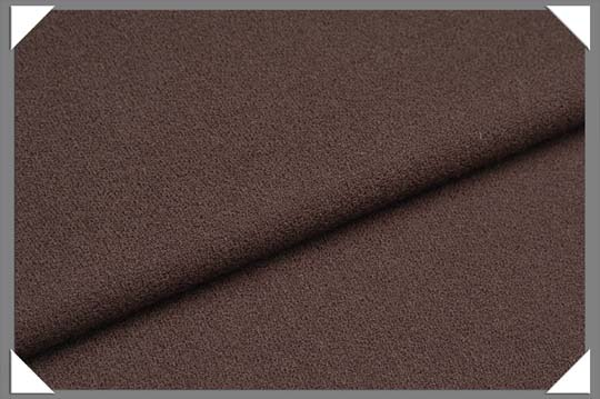 Brown Crepe Fabric