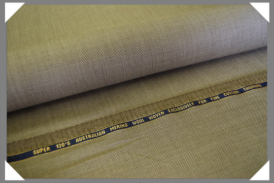 Tan Birdseye Fabric Super 120's Fabric