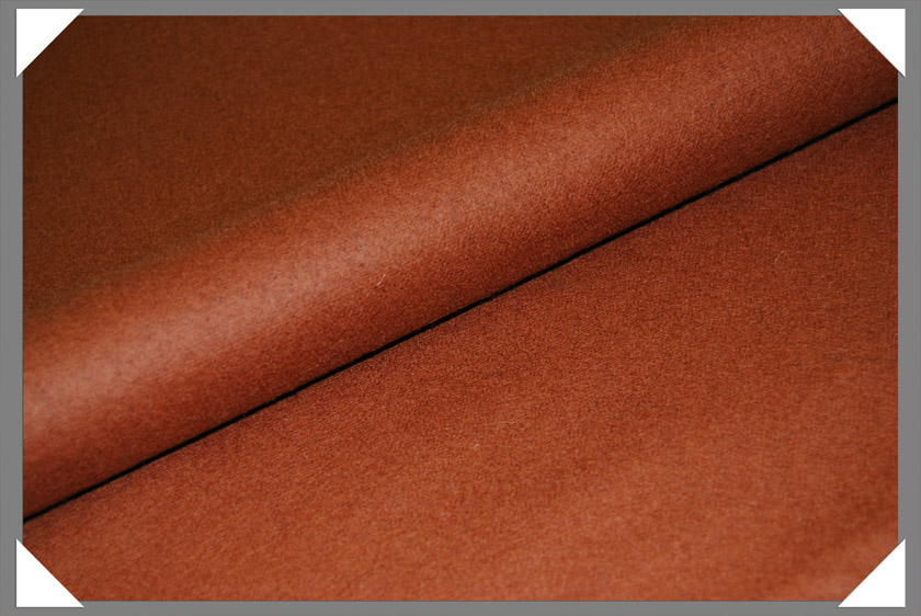 Rust Wool/Nylon Melton Fabric
