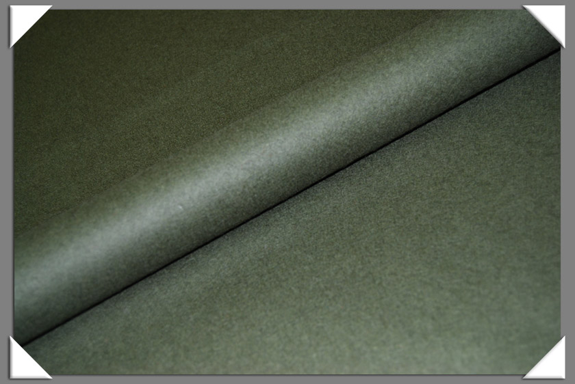 Olive Wool/Nylon Melton Fabric