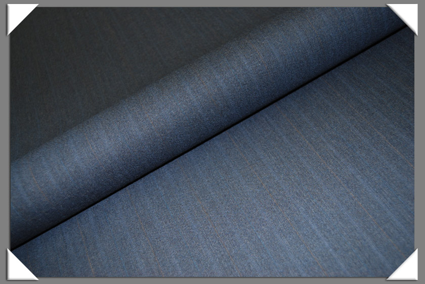 Md. Blue Stripe Suiting Fabric