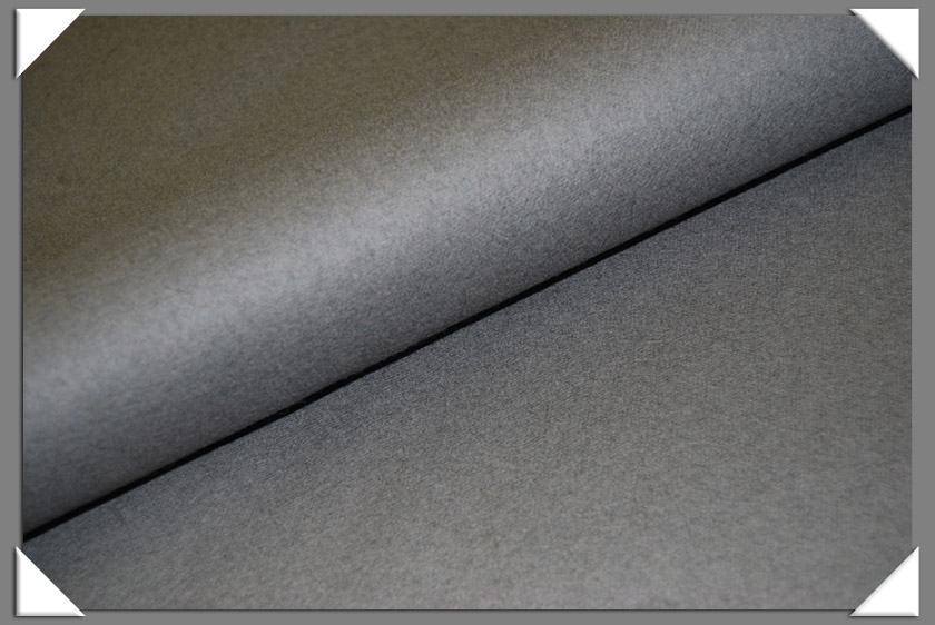 Medium Grey Wool/Nylon Melton Fabric