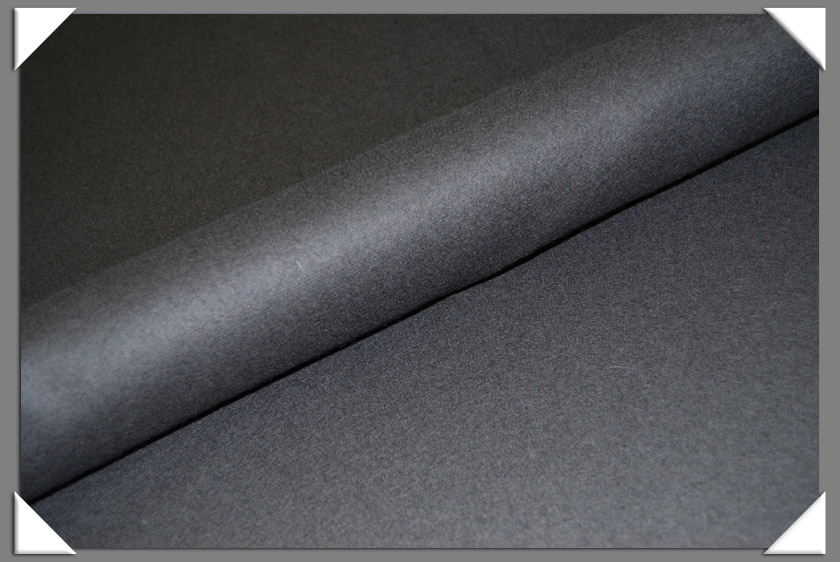 Dark Grey Wool/Nylon Melton Fabric