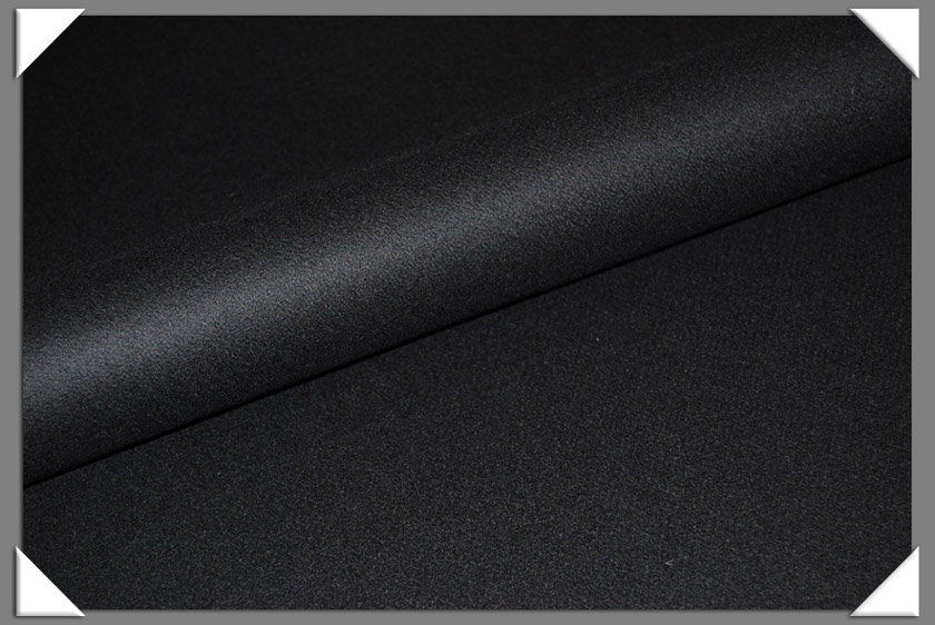 Black Melton Fabric