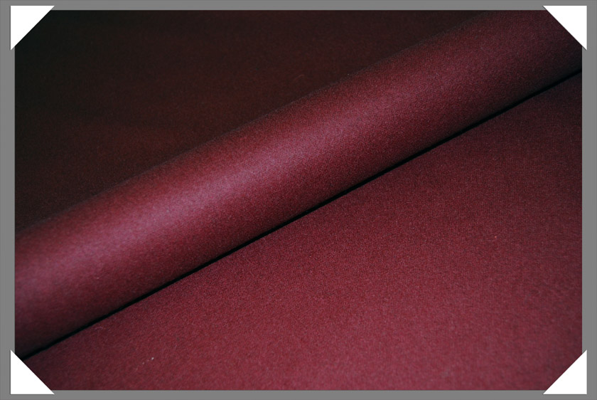 Burgundy Wool/Nylon Melton Fabric