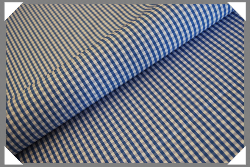 Gingham Shirting Fabric - Lt. Blue