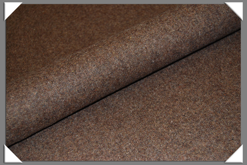 Brown Donegal Tweed Fabric