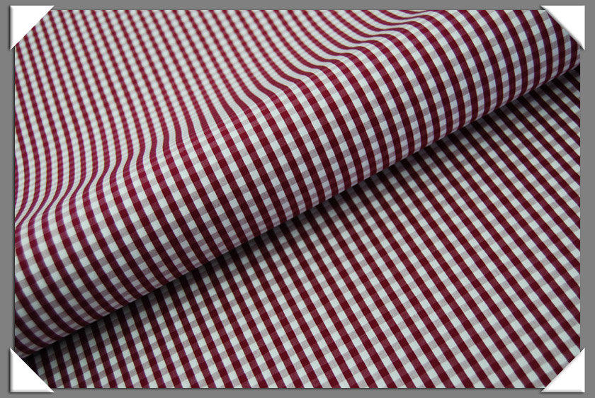 Gingham Shirting Fabric - Cranberry