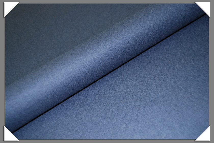 Medium Blue Wool/Nylon Melton Fabric