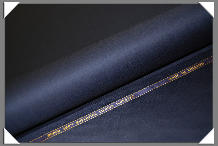 Navy Super 160's Wool Fabric