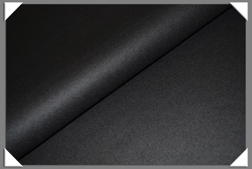 Black Cashmere/Wool Fabric
