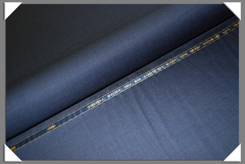 Blue Sharkskin Super 120's Fabric