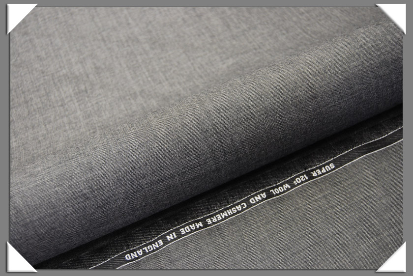 Grey Sharkskin Suiting Fabric