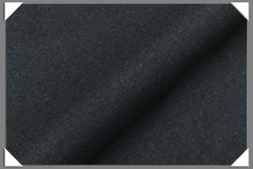 Dark Grey Worsted Flannel Fabric - Click Image to Close