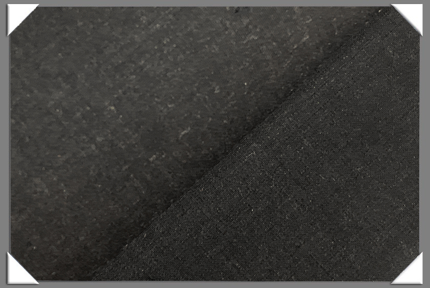 Charcoal Wool Lycra Fabric