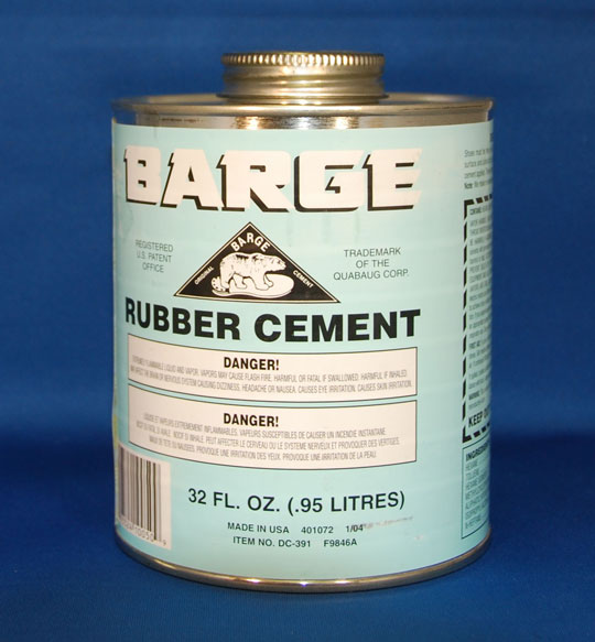 Barge Rubber Cement - 1 Quart Can