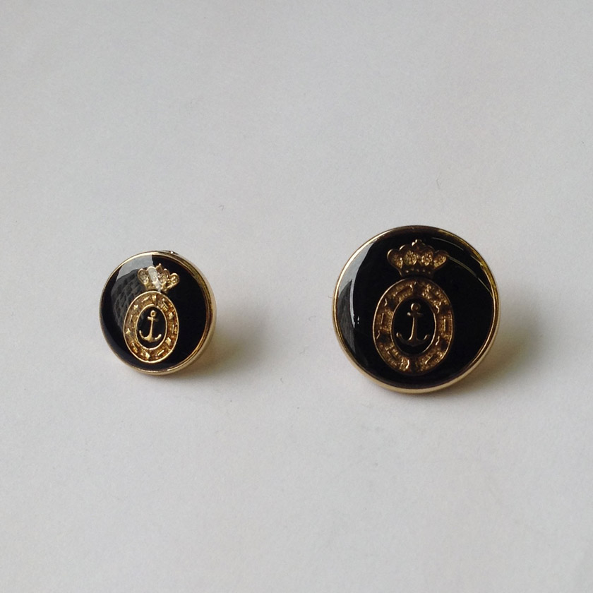 Metal Crown & Anchor Button