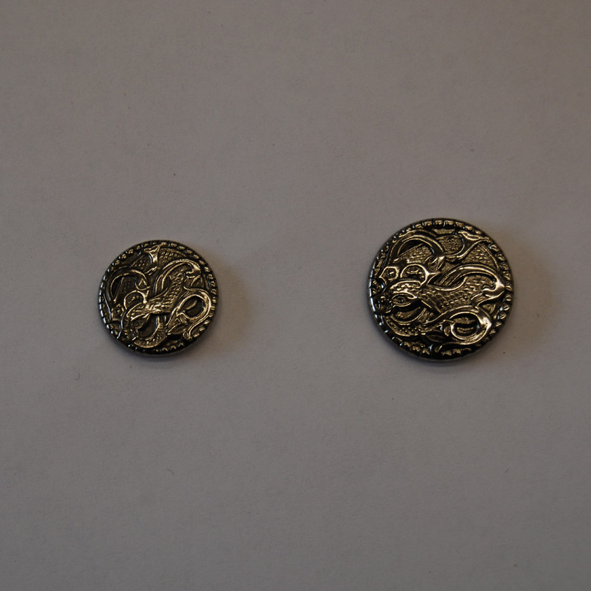 Antique Silver Metal Button