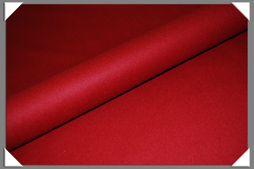 Red Wool/Nylon Melton Fabric
