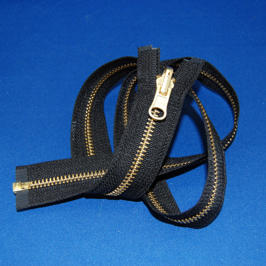 #5 Brass Reversible Separating Jacket Zipper