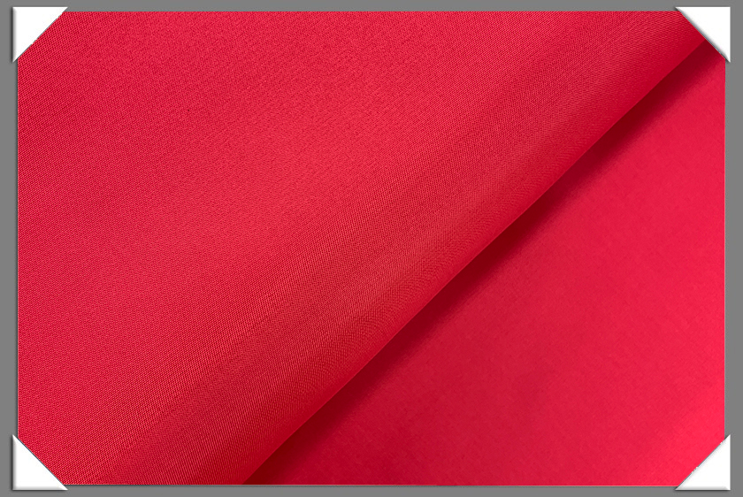 Red Solid Rayon Lining