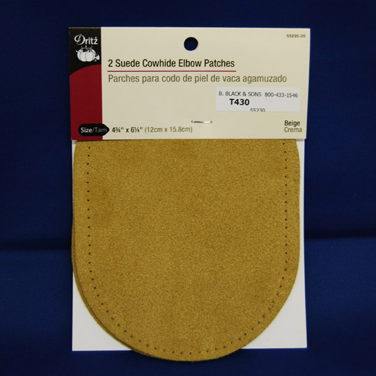 Suede Cowhide Elbow Patches