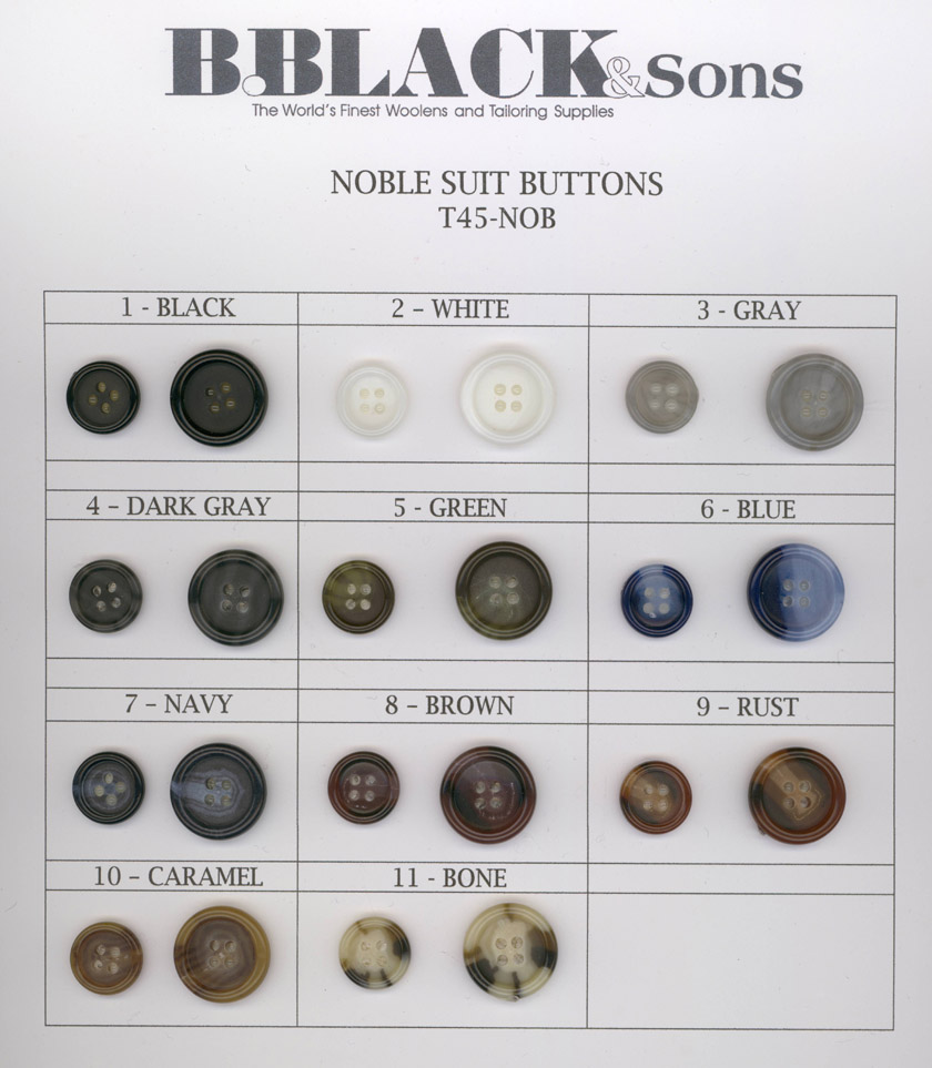 Noble Suit Buttons