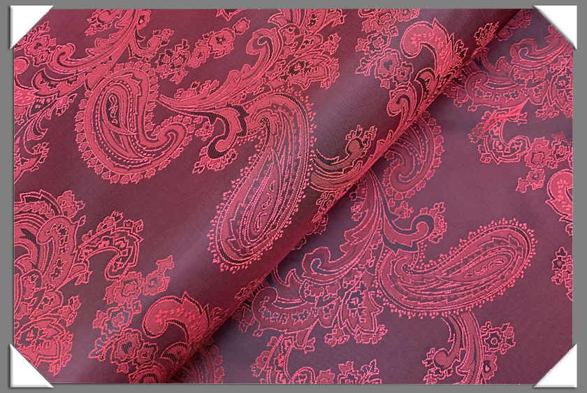 Red Paisley Lining