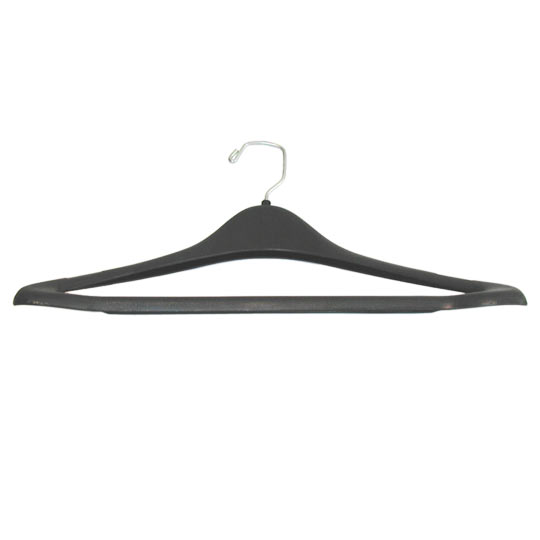 "19"" Black Plastic Contour Suit Hanger - Click Image to Close"