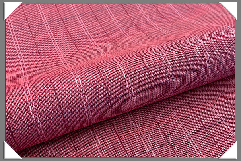 Plaid Shirting Fabric - Crimson
