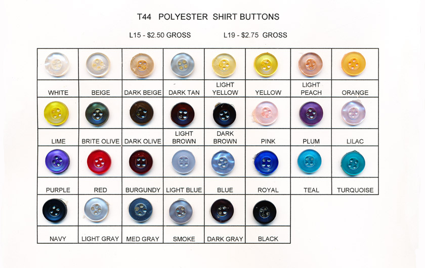 Shirt/Blouse Polyester Buttons