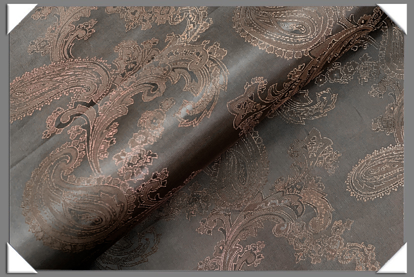 Brown Paisley Lining